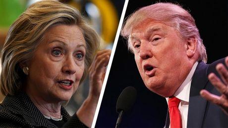 Clinton, Trump ra suc chuan bi cho vong tranh luan truc tiep - Anh 1
