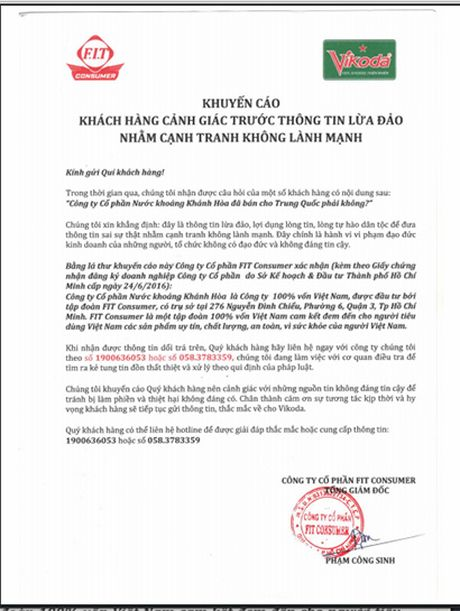 Cong ty Nuoc khoang Khanh Hoa co bi ban cho Trung Quoc? - Anh 1