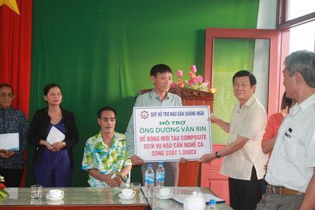 Nguyen Chu tich Nuoc Truong Tan Sang tham ngu dan Quang Ngai - Anh 3
