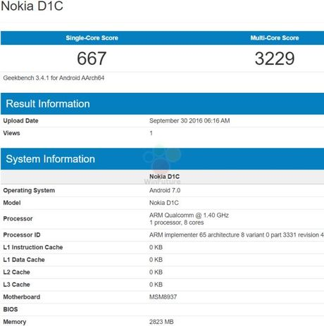 Smartphone Nokia chay Android 7, RAM 3 GB sap ra mat - Anh 1