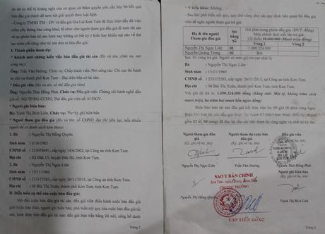 """Nhung uan khuc trong mot vu thi hanh an tai Kon Tum - Ky 2: Bien ban ban dau gia tai san ghi sai do """"loi danh may""""? - Anh 1"""