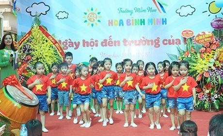 Khanh thanh Truong Mam non Hoa Binh Minh chao don hoc sinh moi - Anh 7
