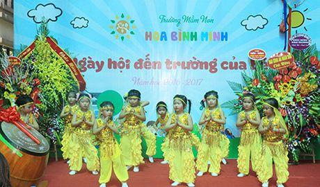 Khanh thanh Truong Mam non Hoa Binh Minh chao don hoc sinh moi - Anh 8