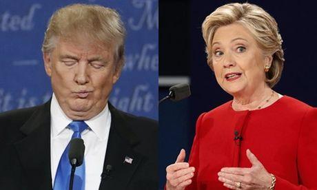 Clinton gianh nhieu loi the sau buoi tranh luan voi Trump - Anh 1