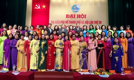 Khai mac Dai hoi dai bieu phu nu Thanh pho Ha Noi lan thu 15 - Anh 1