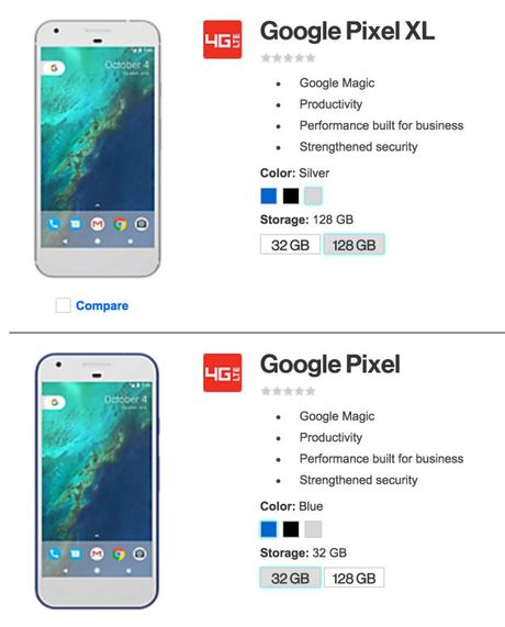 Nha mang Verizon tiep tuc de lo thong tin cua Google Pixel ngay truoc gio G - Anh 1