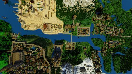 Mot nguoi dan ong da danh tron 5 nam de xay dung ca the gioi trong game Minecraft - Anh 1