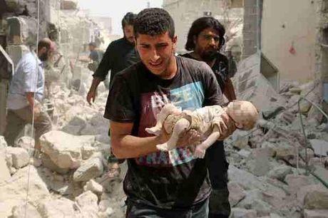 Nhoi long hinh anh nhung em be Syria phia sau cuoc chien dam mau khong hoi ket - Anh 8