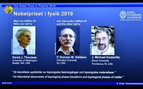 Nobel vat ly 2016 vinh danh nghien cuu trang thai la cua vat chat - Anh 1