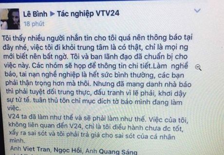 Nha bao Le Binh roi VTV24? - Anh 1