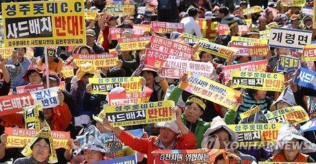 Hang nghin nguoi dan Gimcheon phan doi quyet dinh trien khai THAAD - Anh 1