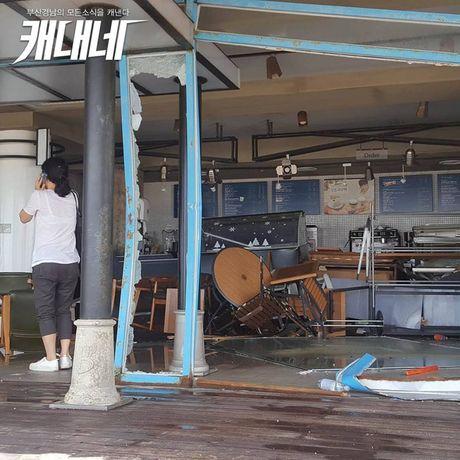 Nuoc lu duoi bat, bao vay o to, cuon troi nha cua trong con sieu bao tai Busan (Han Quoc) - Anh 2