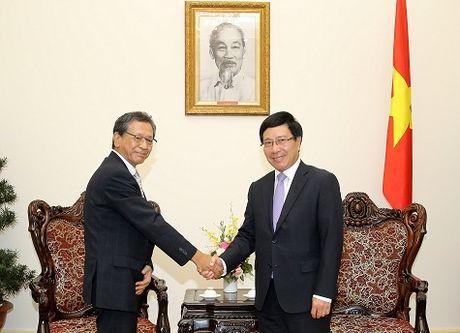 Pho Thu tuong Pham Binh Minh tiep Dai su Nhat Ban - Anh 1