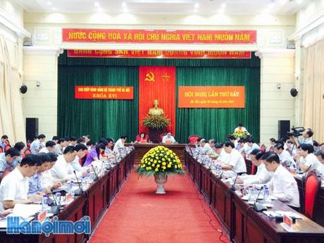 Khai mac Hoi nghi lan thu sau BCH Dang bo thanh pho Ha Noi khoa XVI - Anh 1