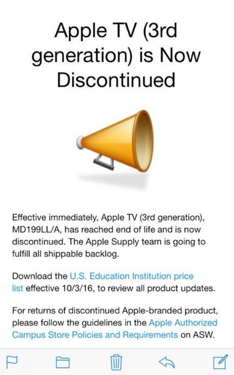 Chinh thuc ngung ban Apple TV the he thu 3 - Anh 1