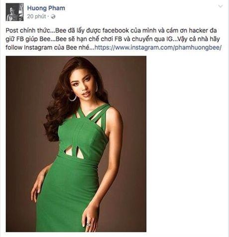 Pham Huong bi hacker chiem Facebook, yeu cau quay clip moi chiu tra - Anh 3