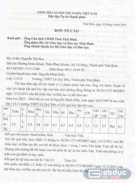 Phu huynh Truong THPT Le Quy Don tiep tuc to con bi 'xu ep' luu ban - Anh 2