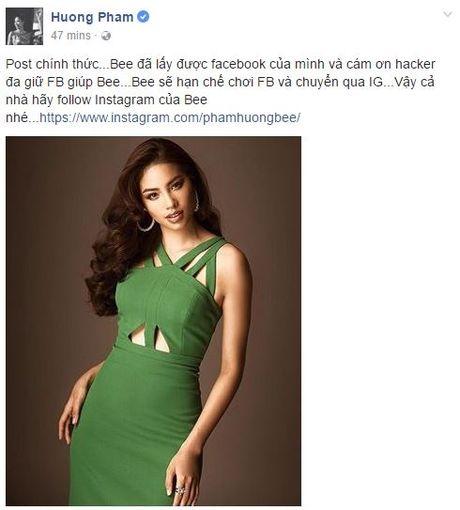 Pham Huong da lay lai duoc Facebook ca nhan sau khi bi hacker tan cong - Anh 1