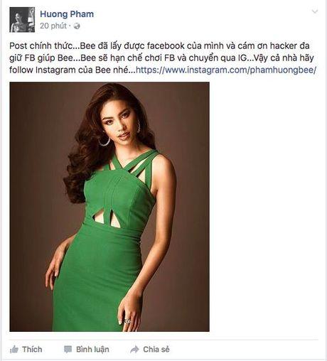 Fan yeu cau Pham Huong quay clip moi tra lai facebook - Anh 4