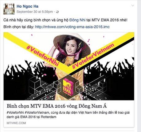 Hang loat sao Viet keu goi ung ho Dong Nhi tai EMA 2016 - Anh 3