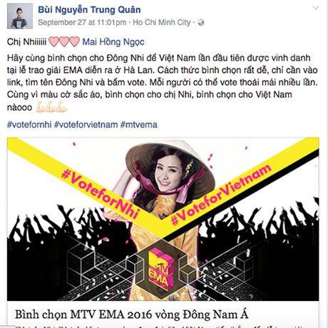 Hang loat sao Viet keu goi ung ho Dong Nhi tai EMA 2016 - Anh 5