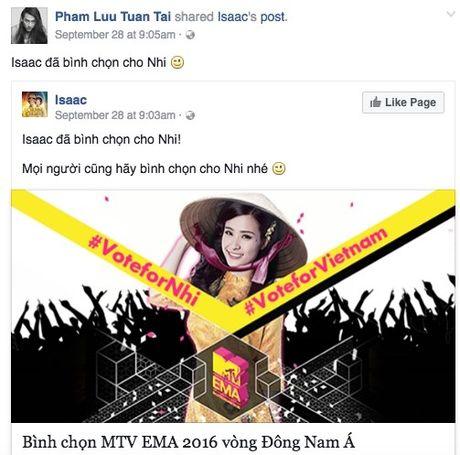 Hang loat sao Viet keu goi ung ho Dong Nhi tai EMA 2016 - Anh 6