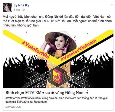 Hang loat sao Viet keu goi ung ho Dong Nhi tai EMA 2016 - Anh 7
