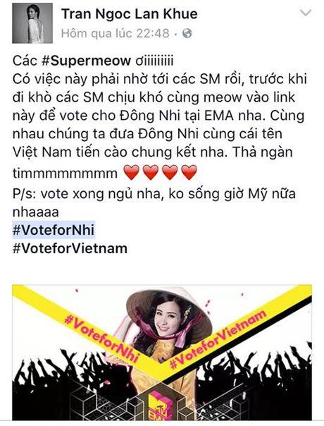 Hang loat sao Viet keu goi ung ho Dong Nhi tai EMA 2016 - Anh 9