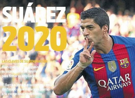 "Barcelona: Luis Suarez nhan them luong ""khung"" 100.000 bang moi tuan - Anh 1"
