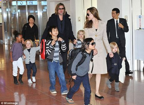 Brad Pitt lan dau gap con sau ly hon - Anh 1