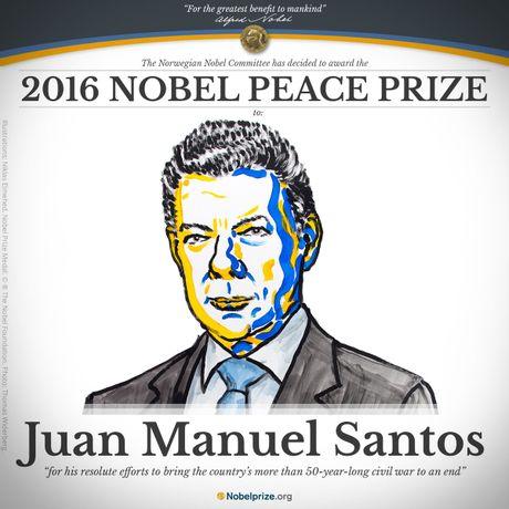Tong thong Colombia Santos gianh Nobel Hoa binh - Anh 2