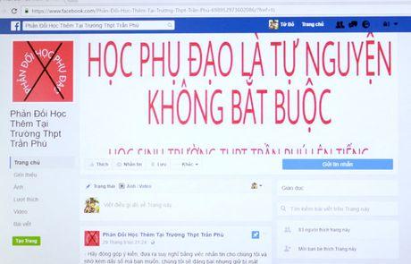 Hoc sinh lien tiep lap Facebook phan doi hoc them - Anh 1