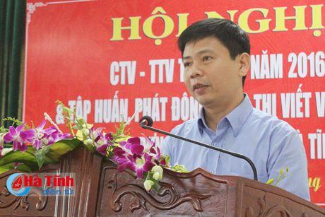 Bao Ha Tinh gap mat CTV-TTV va phat dong thi viet ve nong thon moi - Anh 6