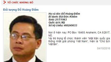 Bo Cong an dua Viet Tan vao danh sach to chuc khung bo - Anh 1