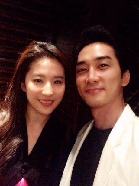 Luu Diec Phi sang Han chuc mung sinh nhat Song Seung Hun - Anh 1