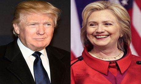 Bau cu My: Ba Clinton van dan diem truoc ty phu Trump - Anh 1