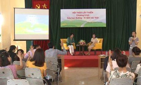 Hoc sinh Ha Noi han hoan chao don chuyen xe Sua hoc duong - Anh 4
