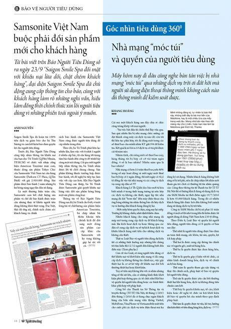 Samsonite Viet Nam buoc phai doi san pham moi cho khach hang - Anh 2