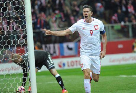 Lewandowski lap hat-trick, Ba Lan danh bai Dan Mach 3-2 - Anh 1