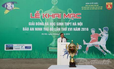 Khai mac Giai bong da hoc sinh THPT Ha Noi 2016 - Anh 1