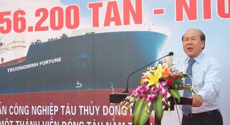 Hạ thủy tàu hàng hơn 56.200 tấn tại Nam Triệu
