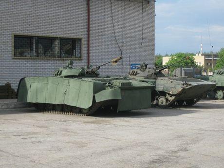 'Dau tim' voi xe chien dau bo binh BMP-2 nang cap cua Ukraine - Anh 1