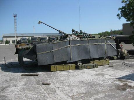 'Dau tim' voi xe chien dau bo binh BMP-2 nang cap cua Ukraine - Anh 2