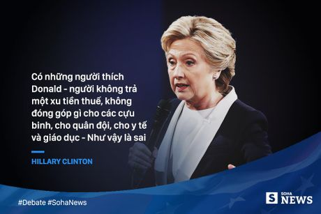 Trump - Clinton da noi gi de 'da thuong' nhau trong tranh luan? - Anh 13