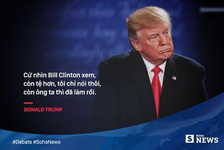 Trump - Clinton da noi gi de 'da thuong' nhau trong tranh luan? - Anh 3