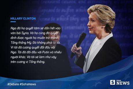 Trump - Clinton da noi gi de 'da thuong' nhau trong tranh luan? - Anh 8