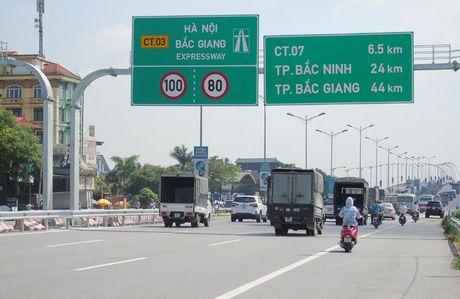 Cao toc 'duong lang' Ha Noi - Bac Giang: Ha van toc luu thong toi da - Anh 1