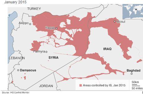 Phien quan IS mat hon 1/4 lanh tho kiem soat tai Iraq va Syria - Anh 1