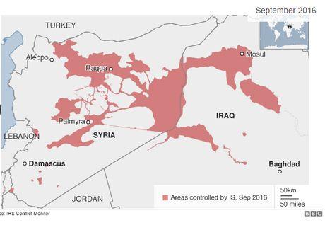 Phien quan IS mat hon 1/4 lanh tho kiem soat tai Iraq va Syria - Anh 2