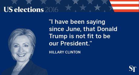 So gang lan 2 Trump - Clinton: 12 phat ngon an tuong nhat - Anh 1